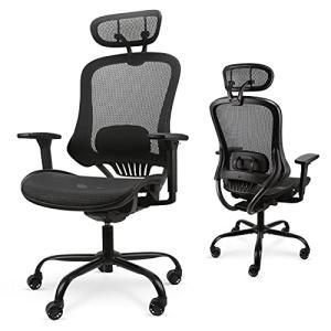 Komeneオフィスチェア メッシュ 人間工学椅子 s型背もたれ リクライニングチェア 腰サポート調整可能 高機能チ|days-of-magic