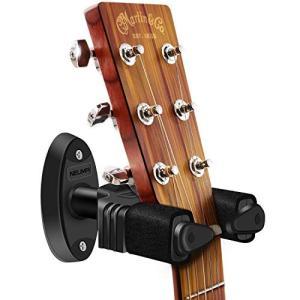 壁に取り付け、楽器を掛けるタイプのギターハンガー。ネックに負担が掛りません。地面に置くギタースタンド...