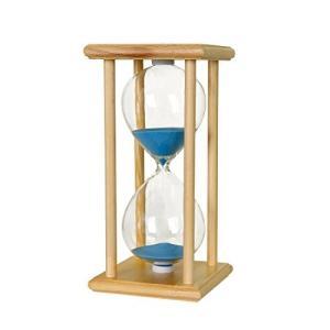 BOJIN 砂時計 30分 木枠 ガラス 青い砂 ナチュラルの枠 カウントダウン機能 雰囲気作り オシャレ プレゼント イン|days-of-magic