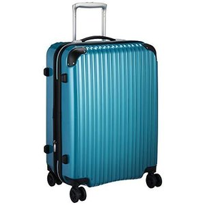[シフレ] ハードジッパースーツケース Mサイズ 拡張 保証付 68L 55 cm 4kg メタリックグリーン|days-of-magic