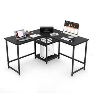 L字デスク 幅130cm パソコンデスク オフィスデスク PCデスク ワークデスク ゲーミングデスク 在宅勤務 学習机 勉|days-of-magic