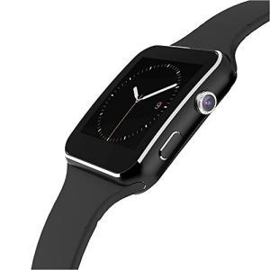 STK スマートウォッチ SIMフリー Smart Watch 腕時計 スマートフォン対応 多機能 健康 (ブラック)|days-of-magic