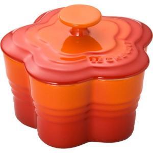 ルクルーゼ ストーンウェア ラムカンフルール フタ付 Sサイズ オレンジ 910167-00-O 電子レンジ・オーブン対応 |days