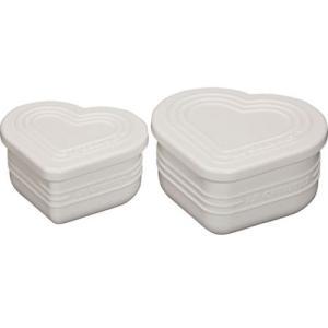 ルクルーゼ シリコン製 蓋つきカップ マルチ ハートカップ セット ホワイト 930070-00-W |days