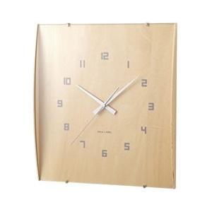 イデアレーベル 掛け時計 ウッドガラスクロック グランデ ナチュラル LCW027-NW days