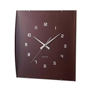 イデアレーベル 掛け時計 ウッドガラスクロック グランデ ダークブラウン LCW027-DW days