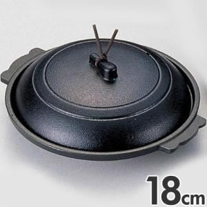 マイン 業務用 陶板鍋 丸陶板 18cm 黒 M10-553                                 days