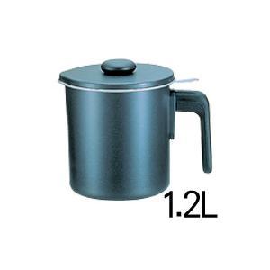 オイルポット ブラックフィギュア シルバーストーン加工 D-047 1.2L|days