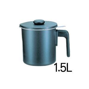 オイルポット ブラックフィギュア シルバーストーン加工 D-048 1.5L|days
