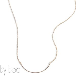 byboe バイボースモールカーブモチーフチェーンネックレス Chain Necklace w/Small Curved 221 アクセサリー ANNIKA INEZ アニカ イネズ|daytripper