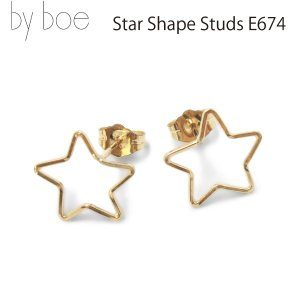 byboe バイボー正規品 スターシェイプスタッズイヤリング ピアス Star Shape Studd Earrings E674 GOLD ANNIKA INEZ アニカ イネズ daytripper