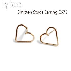 byboe バイボー スミッテンスタッズイヤリング ハート型ピアス Smitten Studs Earring E675 GOLD シリコンキャッチ付き ANNIKA INEZ アニカ イネズ|daytripper