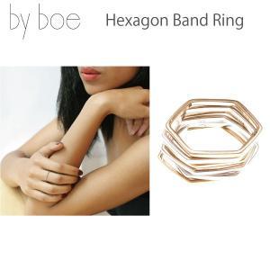 byboe バイボー正規品 ヘキサゴンバンドリング 指輪 Hexagon Band Ring MR-15 アクセサリー ANNIKA INEZ アニカ イネズ daytripper