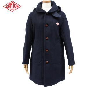 DANTON ダントン レディース ウールモッサジャケット フード付きロングコート WOOL MOSSER JD-8457 WOM|daytripper