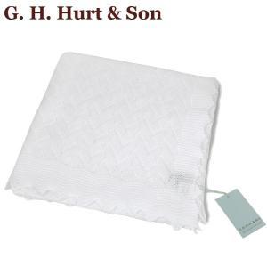G.H.HURT & SON ジーエイチハートアンドサン レーシーコットンベビーショール Lacy Cotton Baby Shawl C331X/54 おくるみ 王子 王妃 英国王室御用達 出産祝い|daytripper
