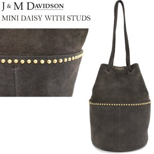 J&M DAVIDSON ミニデイジーウィズスタッズ スウェードレザー MINI DAISY WITH STUDS ALL SUEDE gold fitting 1428g/7440|daytripper
