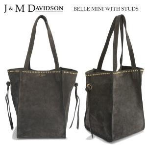 J&M DAVIDSON BELLE MINI ベル ミニ ウィズスタッズ スウェードレザートートバッグ 1531g/7440 9250 gold|daytripper