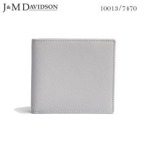 J&M DAVIDSON 二つ折り小銭入れ付き革財布 POWDER GREY Wallet with Coin Case SMALL GRAIN 10013 7470 9060 ジェイアンドエム デヴィッドソン|daytripper