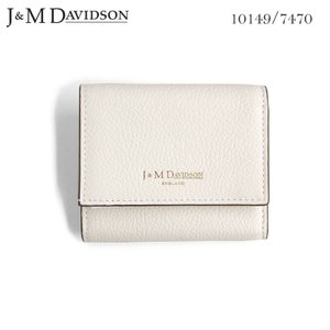J&M DAVIDSON 小銭入れ付き 三つ折りサイフ 2 FOLD WALLET NEW WHITE ジェイアンドエム デヴィッドソン 白 SMALL GRAIN LEATHER 10149 7470 9990|daytripper