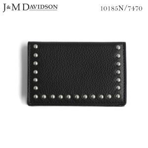 J&M DAVIDSON スタッズ名刺入れ STUDS BUSINESS CARD ジェイアンドエム デヴィッドソン 10185N 7470 9990|daytripper