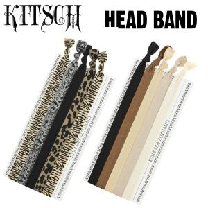 (KITSCHアウトレット)  ヘアゴム5本セット キッチュ ヘアタイ ヘッドバンド head band  髪留め Print プレゼントにも最適|daytripper