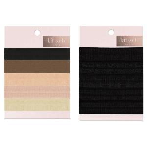 KITSCH ヘアゴム5本セット  キッチュ ヘアタイ hair ties ブレスレットとして使用可能 シュシュ 髪留め solid hair ties|daytripper