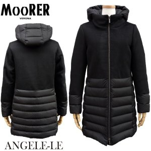 MOORER ムーレー ANGELE-LE レディース  エンジェル ダウンコート ロングダウン NERO BLACK|daytripper