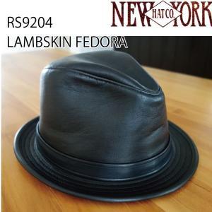 NEW YORK HAT  ニューヨークハット ラムスキンフェドラ 中折れハット LAMBSKIN FEDORA 男 メンズ RS9204 おしゃれ帽子 プレゼントにも|daytripper