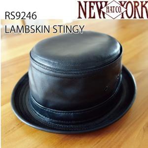 NEW YORK HAT  ニューヨークハット ラムスキンスティンジーハット LAMBSKIN STINGY 男 メンズ RS9246 おしゃれ帽子 プレゼントにも|daytripper