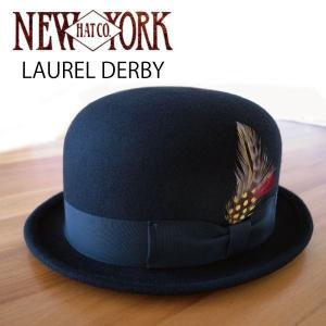 NEW YORK HAT  ニューヨークハット ローレルダービー フェルトハット ボーラーハット LAUREL DERBY 男女 RS5002 おしゃれ帽子 プレゼントにも|daytripper