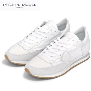 PHILIPPE MODEL PARIS フィリップモデル ホワイトスニーカー Tropez Basic TRLU 1101 レースアップ メンズ|daytripper