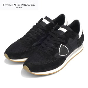 PHILIPPE MODEL PARIS フィリップモデル ブラックスニーカー Tropez Basic TRLU 1109 レースアップ NOIR/BLANC ノワール メンズ|daytripper