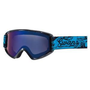 SWANSスノーゴーグル 170-MDH  BKBL色 フレーム/ブラック×ブルー 、レンズ/ブルーミラー×グレイ|dazzle-sp