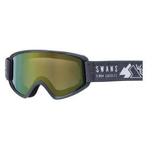 SWANSスノーゴーグル 170-MDH  MBK色 フレーム/マットブラック 、レンズ/オレンジミラー×グレイ|dazzle-sp
