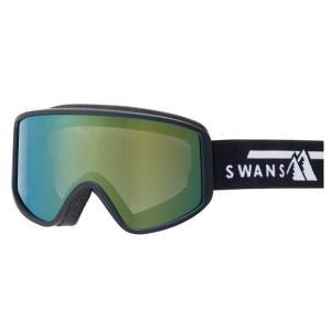 SWANSスノーゴーグル 180-MDH  BK色 フレーム/ブラック 、レンズ/オレンジミラー×グレイ|dazzle-sp