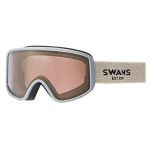 SWANSスノーゴーグル 180-MDH  SND色 フレーム/サンド 、レンズ/ゴールドミラー×ブライトピンク|dazzle-sp