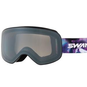 SWANSスノーゴーグル 190-MDH  BK/W色 フレーム/ブラック×ホワイト 、レンズ/シルバーミラー×グレイ|dazzle-sp