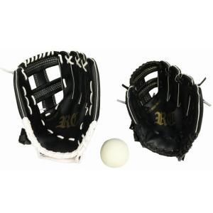 6714 親子グローブセット 野球グローブ カラー/ブラック サイズ/ジュニア用9インチ・一般用11.5インチ|dazzle-sp