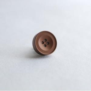 AP-IS-008 Aroma Pins (アロマ ピンズ) カラー/マットブラウン  お好みの香水・アロマオイル 等をしみ込ませることができる ボタン型のピンズ|dazzle-sp