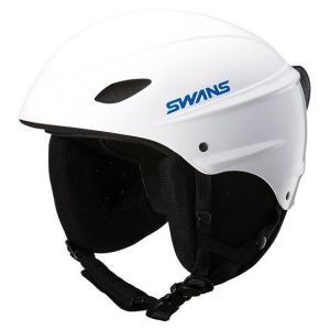 SWANSスノーヘルメット H-45R  カラー:W色(ホワイト) 、S(48cm-54cm)、 M(52cm-58cm)、 L(58cm-64cm)、子供から大人用|dazzle-sp
