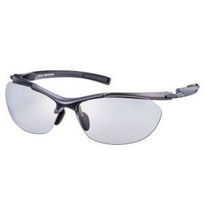 SACR-0053 Airless-Core エアレス・コア 偏光レンズモデル カラー:GMR フレーム:マットチタンシルバー×マットブラック レンズ:偏光ライトスモーク |dazzle-sp