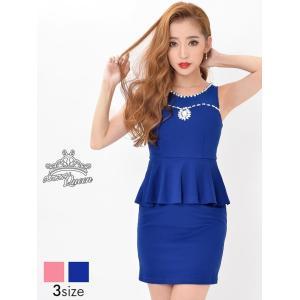 ドレス キャバドレス ワンピース ナイトドレス 大きいサイズ S M L 盛りドレス 花柄チューリップカットウエスト透けタイト ミニドレス daz|dazzy
