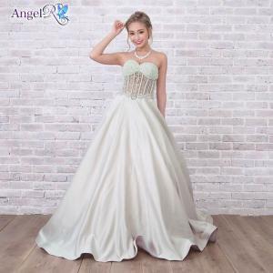 AngelR キャバ ドレス キャバドレス 贅沢刺繍パールビジュー付トップスレース透けベアAラインフレアロングドレス ドレス 二次会 花嫁 誕生日|dazzy