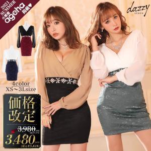 キャバ ドレス ミニ キャバドレス ワンピース ナイトドレス 大きいサイズ シフォン透けクラシカルタイトミニドレス S M L LL ベージュ 白|dazzy