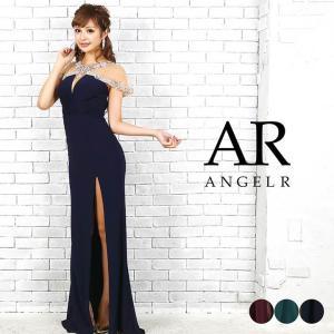 ドレス キャバ AngelR デコルテ スリーブ シースルー タイト ロングドレス  ドレス ワンピース ロングドレ dazzy