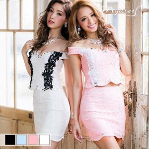 ドレス キャバ  2ピース オフショル タイト ミニ ドレス [mydress] ドレス ワンピース ミニドレス セク|dazzy