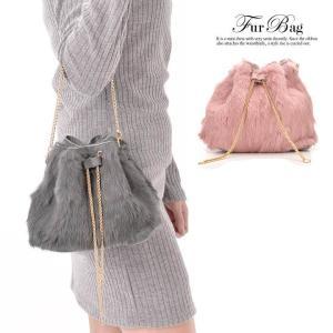 ハンドバッグ 2way フェイクファーチェーンバッグ ピンク グレー 黒 カジュアル ハンドバッグ ショルダーバッグ 手持ちバッグ カバン 鞄 バ|dazzy