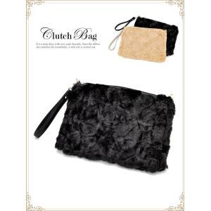 ハンドバッグ ショルダーバッグ 2way フェイクファークラッチバッグ ベージュ 黒 カジュアル ハンドバッグ ショルダーバッグ 手持ちバッグ カ|dazzy