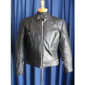 80s DEAD STOCK Lewis Leathers 437 Phantom BLACK-7 80年代デッドストック ファントム ブラック#7|dbms