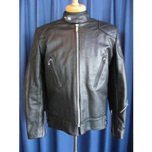 80s DEAD STOCK Lewis Leathers 443 Super Phantom BLACK-6 80年代デッドストック スーパーファントム ブラック#6|dbms